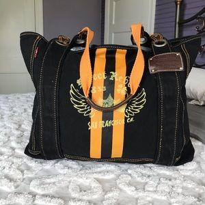 "Levi's Black & Orange Canvas Tote Bag 12""x19"""
